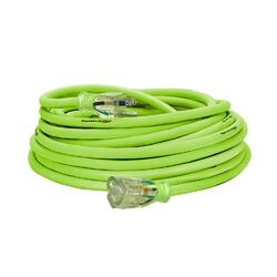 Flexzilla Pro Extension Cord 12/3 AWG SJTW 50ft Outdoor Lighted Plug