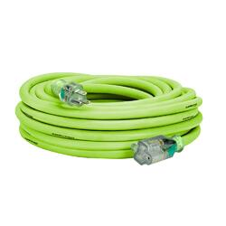 Flexzilla Pro Extension Cord 10/3 AWG SJTW 50ft Outdoor Lighted Plug