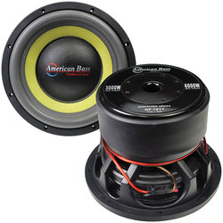 """American Bass Godfather 18"""" 400 oz Magnet 4"""" Voice Coil Dual 1 ohm"""