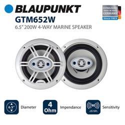 """Blaupunkt 4-Way 6.5"""" Marine Speakers 200 Watts Max"""