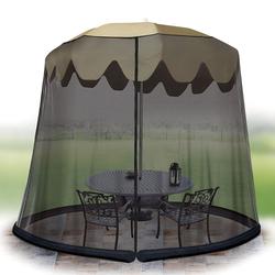 Ideaworks Outdoor 7.5 Foot Umbrella Table Screen Black