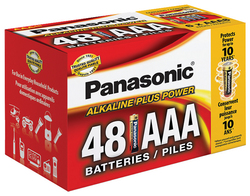 "Panasonic Alkaline Size ""AAA"" Plus Power (48-Pack) Blister Box"