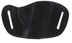 Bulldog Medium  right hand black molded leather belt slide holster