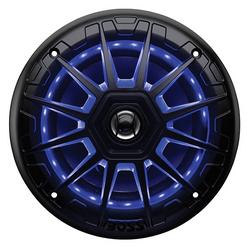 "Boss 6.5"" 2-Way Marine Speaker with RGB Lights(Pair) 200W Black"
