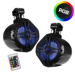 """Power Acoustik Marine 6.5"""" 2-Way Wakeboard Speakers with RGB LED Illumination (Black)"""
