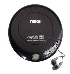 Portable CD and MP3 disc player with FM radio