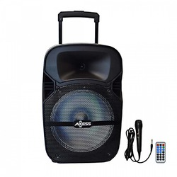 Axess Bluetooth PA Speaker 5000 Watts LEDFM RadiioUSB