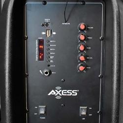 Axess Bluetooth 15 inch PA Speaker 600 Watts LEDFM RadioRemote & Mic Included