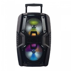 """Axess Dual 10"""" Bluetooth Party Speaker with LED Lights 1200 Watts"""