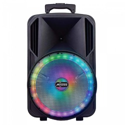 """Axess 15"""" Bluetooth Party Speaker with Round Brilliant LED Lights"""