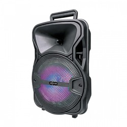 """Axess 8"""" Bluetooth Party Speaker Disco LightsRemoteRechargeable Battery"""