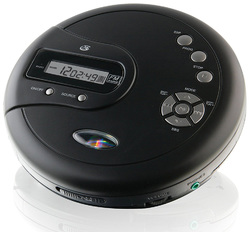 GPX Portable CD Player AntiSkip Protection FM Radio Stereo Earbuds Black