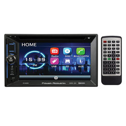 """Power Acoustik 6.2"""" Double Din DVD Receiver with Bluetooth"""