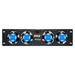 Pyle Rack Mount 4 Cooling Fans with Display
