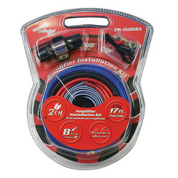 AMP WIRING KIT AUDIOPIPE 8 GA.FOR SYSTEMS UP TO 1500WATTS