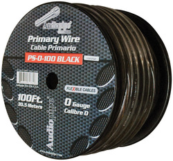 Audiopipe Flexible Power Cable 0 Ga. 100 Ft. Black