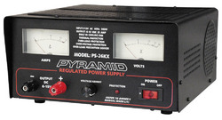 POWER SUPPLY PYRAMID 25 AMP 6-15 VOLT W/COOLING FAN