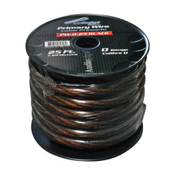 POWER WIRE AUDIOPIPE 0GA. 25' BLACK