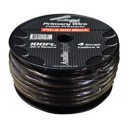 POWER WIRE AUDIOPIPE 4GA 100' BLACK