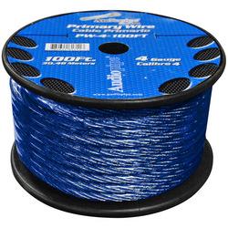 POWER WIRE AUDIOPIPE 4GA 100' BLUE
