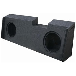 """QPOWER DUAL 10"""" SEALED WOOFER BOX FOR 2019-2020 GM CREW & DOUBLE CAB"""