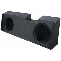 """QPOWER DUAL 12"""" SEALED WOOFER BOX FOR 2019-2020 GM CREW & DOUBLE CAB"""