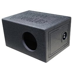 """Qpower Single 6.5"""" Enclosure Vented QBOMB with Spray liner"""