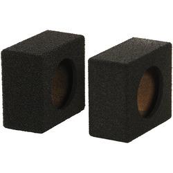 "Qpower Empty 6.5"" Speaker Enclosure Pair QBomb (spray on Black Bedliner Coating)"