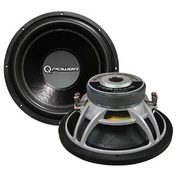 """QPower*DELUXE QP15*15"""" Woofer new deluxe series DVC chrome basket 90oz. magnet 2200 watts"""