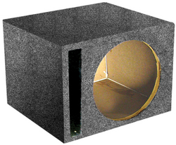 "*SBASS10* EMPTY WOOFER BOX QPOWER; (1)10"" SLOT PORTED"