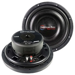 """American Bass 10"""" Shallow Mount Woofer 300W RMS/600W Max - 4 Ohm SVC"""
