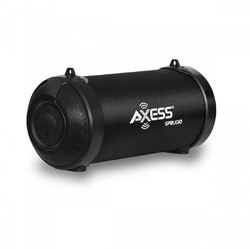 """Axess 3"""" Bluetooth Portable Speaker with LED Lights & USB Input - Black"""