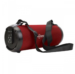 """Axess 3"""" Bluetooth Portable Speaker with LED Lights & SD/USB Inputs - Red"""