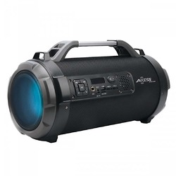 """Axess 4"""" Bluetooth Portable Speaker with LED Lights & Mic/SD/USB Inputs - Black"""
