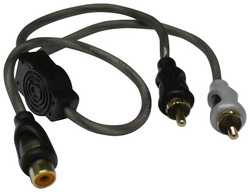 American Bass Y RCA Cable 1 female to 2 male