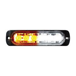 Street Vision Switching 6-LED Ultra Slim Flush Mount 19-Flash Pattern Marker Strobe Light (White