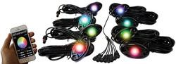 Category: Dropship Led Lights, SKU #SV1005246, Title: Street Vision StreetSMART 8-LED Glow Pod BLACK Kit - Smartphone Controlled with Brain Box IP68 12V w