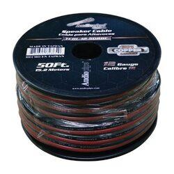 Audiopipe 12 Gauge 100% Copper Series Speaker Wire - 50 Foot Roll - RED/BLACK Jacket