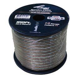 Audiopipe 14 Gauge 100% Copper Series Speaker Wire - 100 Foot Roll - Clear PVC Jacket