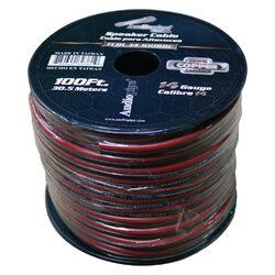 Audiopipe 14 Gauge 100% Copper Series Speaker Wire - 100 Foot Roll - RED/BLACK Jacket