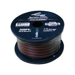 Audiopipe 14 Gauge 100% Copper Series Speaker Wire - 50 Foot Roll - RED/BLACK  Jacket