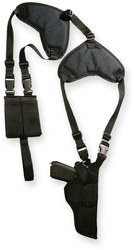 Bulldog Deluxe shoulder harness with holster horizontal and ammo pouch