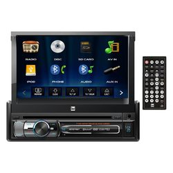 Dual 7 Single-DIN In-Dash DVD with Motorized Touchscreen  Bluetooth
