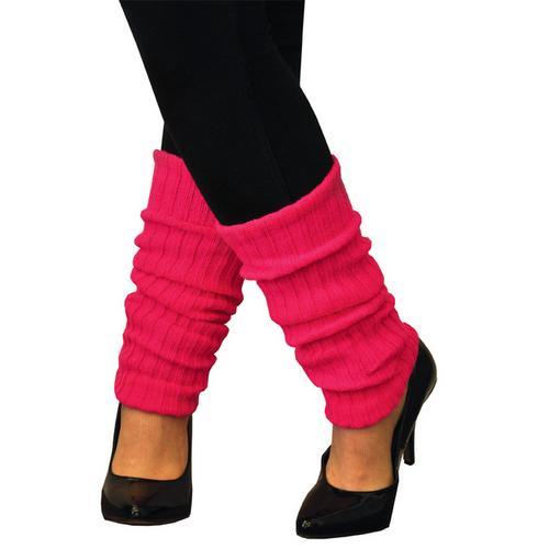 LEG WARMERS ADULT NEON PINK