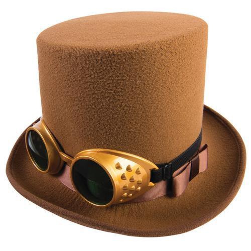 STEAMPUNK HAT W/GOGGLESBROWN