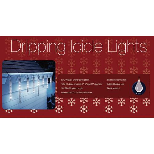 HOLIDAY LIGHTS 10 DRIPPING LED
