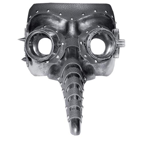 STEAM PUNK MASK LONG NOSE-BLAC