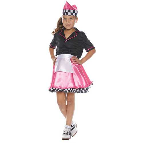 50\'S CAR HOP CHILD LARGE 10-12