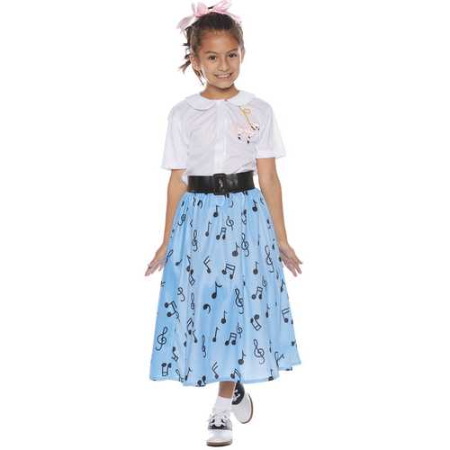 50\'S SKIRT SET CHILD SMALL 4-6