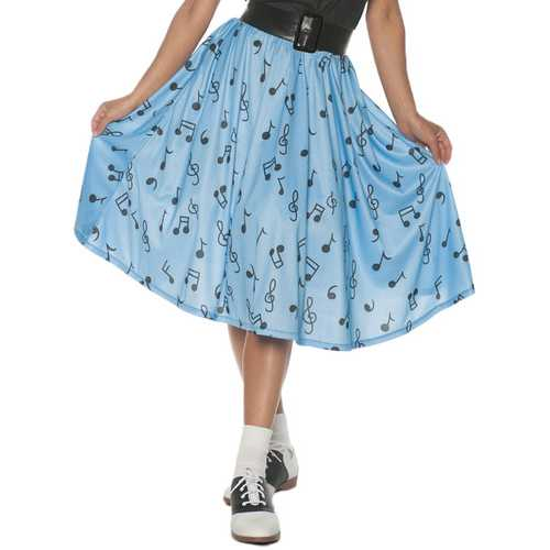 50\'S MUSICAL NOTE SKIRT AD XL